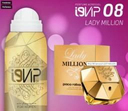 Perfume i9life feminino aerossol 100ml promoção - n° 08 - similar lady milion