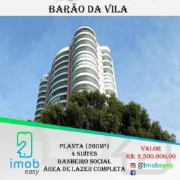 Alugo Barão da Vila, 260m², 4 suítes, 100% mobiliado