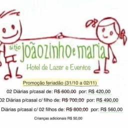PROMOÇÃO PARA O FERIADÃO!!! Sítio Joãozinho e Maria Hotel de Lazer e Eventos.