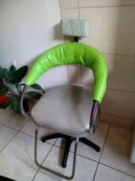 Cadeira hidráulica de barbeiro salão