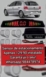 Sensor de estacionamento instalado