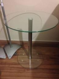 Criado Mudo Tok e Stok moderno de vidro e aço