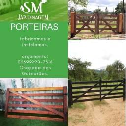 Limpeza de terrenos, fabricação de cercas e porteiras .
