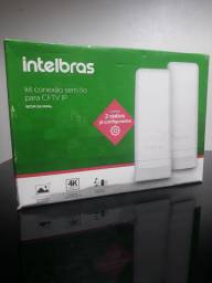 Kit conexão sem fio Intelbrás Wom 5A MiMo novo na caixa.