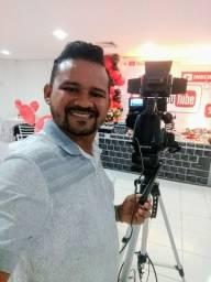 Filmagens, lives , fotografias , transmissões ao vivo, projeções em telões