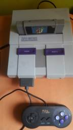 Super Nintendo Original FAT Seminovo, 1 Controle, 1 Fita