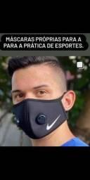 Máscaras esportivas para academia com símbolos da nike, addidas, puma