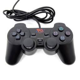 Controle Ps2 Playstation 2 Com Fio Novo