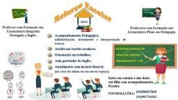 Aulas de reforço, Aulas de Inglês e Trabalhos acadêmicos