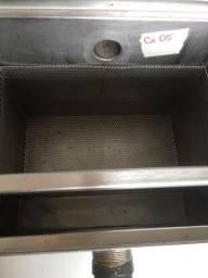 Caixa de inspeção INOX (gordura/ esgoto) 0,31 x 0,36 x 0,26