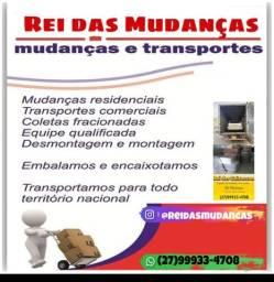 REI DAS MUDANÇAS CAMINHÃO BAÚ LOCAL E TODO O BRASIL
