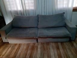 Sofá confortável 2,90 x 2,00 na cor cinza
