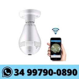 Lâmpada Câmera IP Wifi Hd 360º - Monitorada via celular