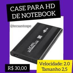 Case para HD de Notebook 2.0 tamanho 2,5