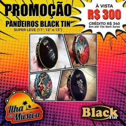 Pandeiros Black Tin - Loja Ilha da Música