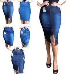 kit 5 saia jeans feminina