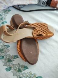 Sandália feminina di calçados marrom