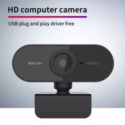 Webcam full HD 1080p com microfone computador