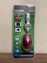 Mini Mouse Satellite Óptico USB - Notebook