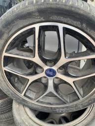 Jogo de rodas com pneus meia vida Ford Focus