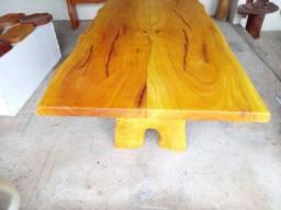 Mesa 2m x 90cm com 2 bancos de 2 metros