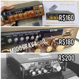Amplificadores de som, serve como cabeça de som puxa qualquer caixa