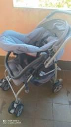 Carrinho e Bebê conforto burigotto rio plus