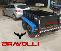 Título do anúncio: Reboque AP linha truck BRAVOLLI ' Carretinha 2 eixos