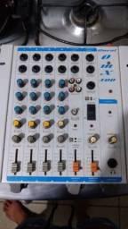 Amplificador oneal e mesa de som 4 canal