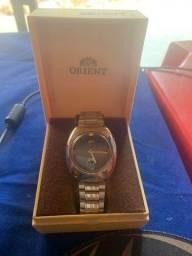 Relógio Orient pulseira aço inox aceita troca em bicicleta