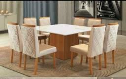 Mesa alice com 8 cadeiras Zurique RN GGA7#8