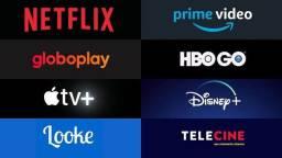 Netflix, prime vídeo, Disney+, telecine e muito mais!