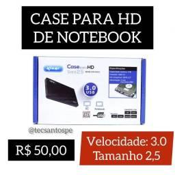 Case para HD de Notebook 3.0 Tamanho 2,5