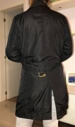 Casaco estilo Trench Coat preto