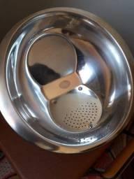 Escorredor de arroz em inox. (Venda somente para Uberlândia-MG)
