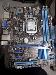Placa mãe Asus 1155 + processador i5 3470s