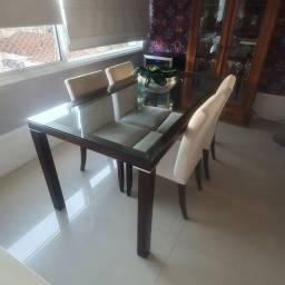 Mesa jantar e 4 cadeiras