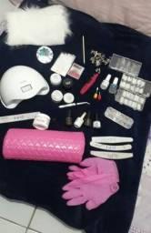 Kit alongamento gel e fibra