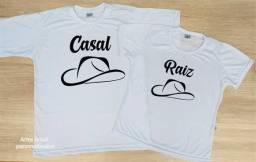 Camisa dia dos namorados personalizadas