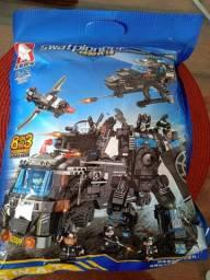 Brinquedo Blocos Montar Police Presente Swat Novo Lego