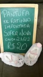 Pantufa de ratinha importada numero 21/22 semi nova