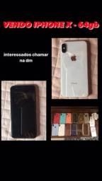 iPhone X 64gb Branco e Prata