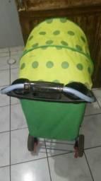 Vendo carrinho de bebê verde