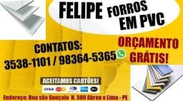 Felipe forros em pvc