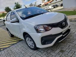 EXTRA!! Toyota Etios 1.3 Flex 2018/2019 Branco Perolado