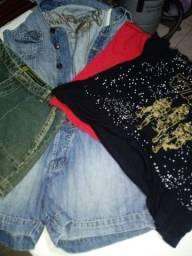 Lote de roupas tamanho P.