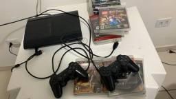 PS3 com todos os jogos (buscar em mãos)