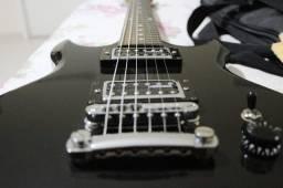 Kit guitarra Ibanez com pedaleira BOSS e cubo