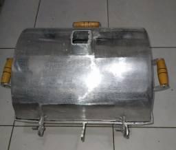 Churrasqueira grande alumínio fundido grosso 30/40 alumínio