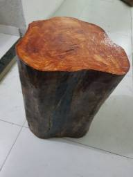 Banco de madeira troco de árvore
